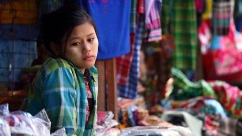 缅甸姑娘这么大胆,见到男游客为何做出这种举动,看完就知道了