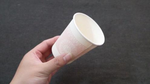 一次性杯子用完别扔,在上面剪几刀做成这个,放客厅太实用了