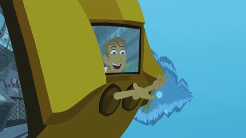 动物兄弟:马丁可以在潜水艇里看到很多生物!他感到很不可思议!