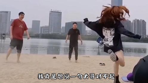 本来想录个舞蹈视频 没想到成了翻车现场