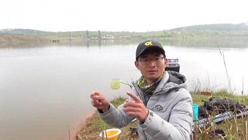 水库钓鱼,就得多打窝,才有爆护的可能