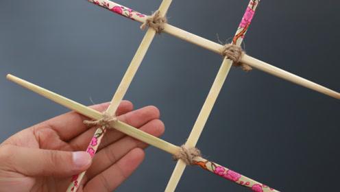 筷子用旧了不要扔,绳子绑一绑放厨房里作用大,方法太妙了