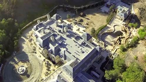 无人机航拍全球房价最贵地区:美国加州洛杉矶的比佛利公园环线豪宅群