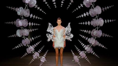 3D打印的裙子到底有多美?模特穿上的那一刻,全场瞬间沸腾!