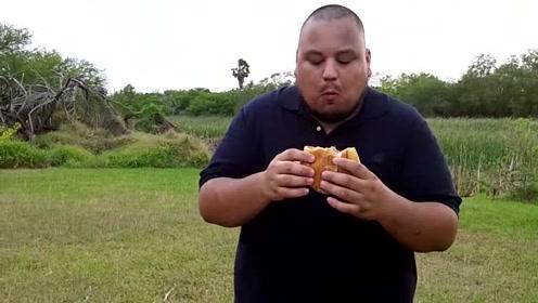 大胃王挑战食物,活久见了,咋这么厉害