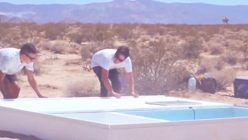 最奇葩的泳池,建造在沙漠中,还要自己带水!