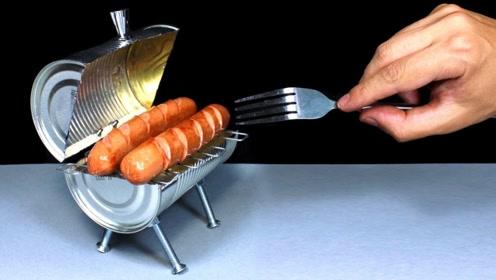 mini烧烤架的制作,快回家试试吧!
