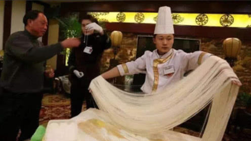 """让外国厨师""""崩溃""""的中国菜,龙须面算简单,最后一道想""""扔锅"""""""