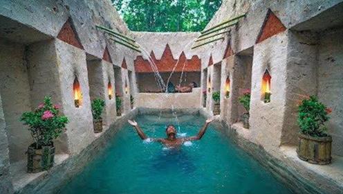 牛人在地下掏出豪华泳池,还自带别墅的那种,赶紧爬进去瞧瞧!