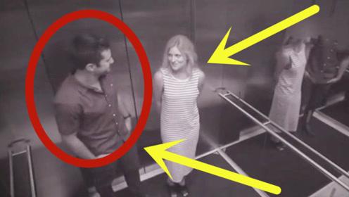 漂亮女子跟男子进入电梯,5秒不到就对了眼,光天化日请注意影响!