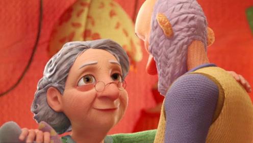 老爷爷去世后,老奶奶总是对着照片发呆,进入异空间见到老伴!