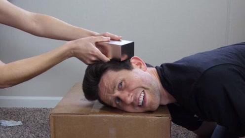 人体对磁场会产生反应吗?小伙将500公斤钕磁铁放在头上实验