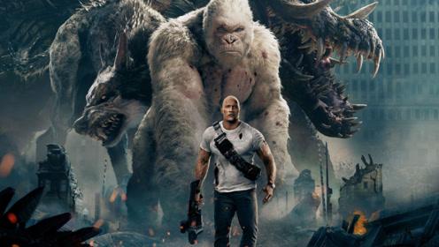 一部画面超燃的科幻片,三只动物基因被改造,几天就长成了怪兽