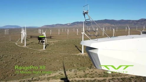 RangePro X8无人机声称飞行时间为70分钟