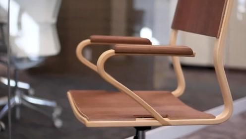 男子制作一把办公椅,这手艺比买的惊艳十倍,太牛了