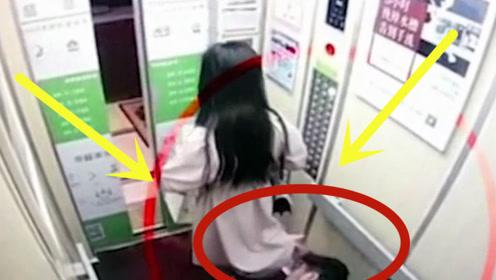 男子尾随短裙美女进电梯,多次动手动嘴,监控拍下无耻一幕!