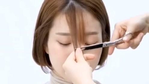 一刀修剪刘海,傻瓜式修剪法,超级简单,一看就会