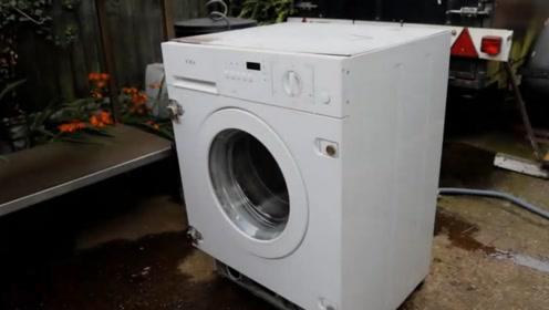 还有这种操作?男子将洗衣机改造成烧烤炉,我彻底服了