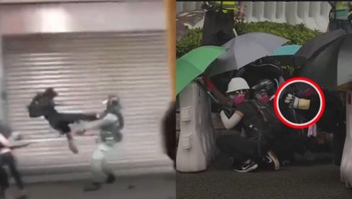 """5分钟超长揭秘!香港黑衣暴徒背后:庞大又精密的""""操纵机器"""""""