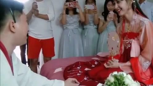 新娘穿成这样出嫁还是第一次见,简直太美了,一般人驾驭不了!