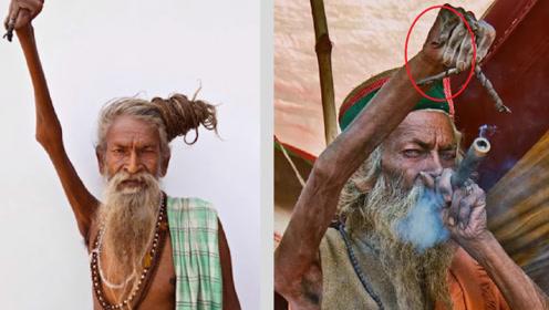 印度苦行僧为修行高举右手45年不放下,最终他的手变成了这样!