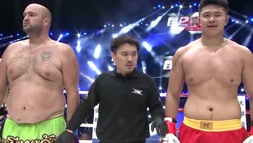 小看中国拳手是不行的,美国壮汉来华挑战被打到跪地,差点哭出来