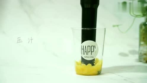 菠萝又出新吃法,搭配薄荷特别香,在家做出网红饮料喝