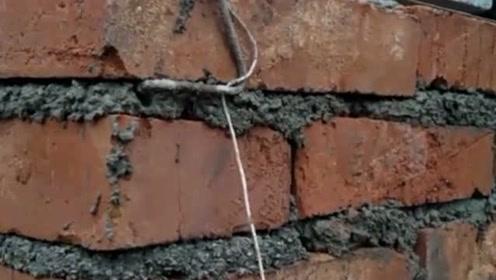 内地砌砖猛士,五百一天看看这独特的手法,一般人比不了!