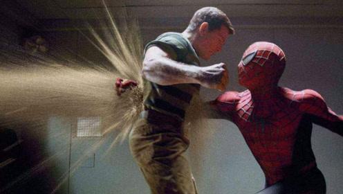 7分钟看完动作冒险片,蜘蛛侠遇到沙人,怎么打就是打不死他!