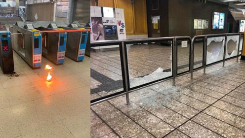 暴徒向营运车站及列车投掷汽油弹纵火 港铁:已报警将追责