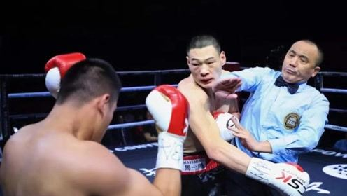中国不败拳手惨遭开场速杀!击腹、爆头毫无还手之力!