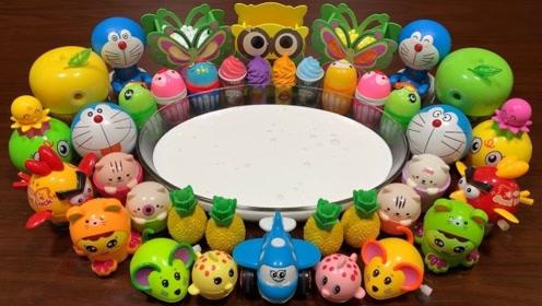 创意史莱姆教程,牛奶起泡胶+彩色亮粉+珍珠,超级解压!
