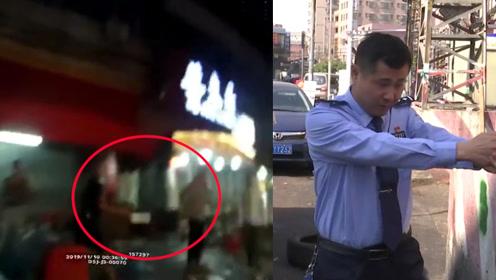 男子酒后持刀欲砍人 挥刀瞬间民警开枪示警 吓得他咣当一声扔下刀