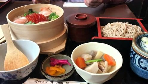 聚乐明神荞麦面,日本新潟本地特色,海鲜品种丰富