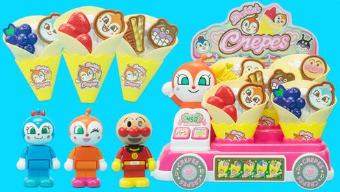 面包超人会说话的奶油饼干冰淇淋车