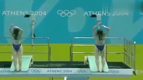 回顾郭晶晶雅典奥运的最后一跳,分数没出网友直呼金牌!经典再现