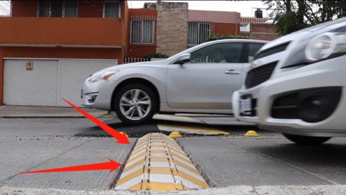 这个智能减速带,能判断车速自动升降,不减速后果会怎样?