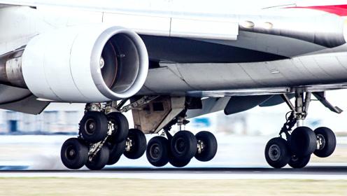 飞机着陆时,轮胎要承受多大的压力?镜头下让人心颤的一幕!