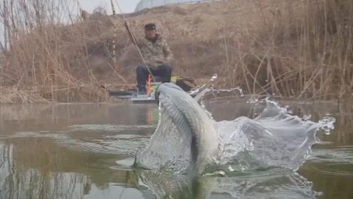钓鱼:拍摄的角度挺好的