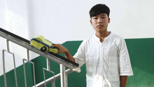 太长脸!中国13岁男孩发明爬楼神器获国际金奖,网友:简直是天才
