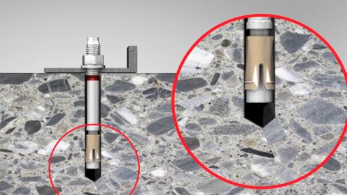 德国的膨胀螺栓能承重多少斤?3D动画演示原理,承重200斤不在话下