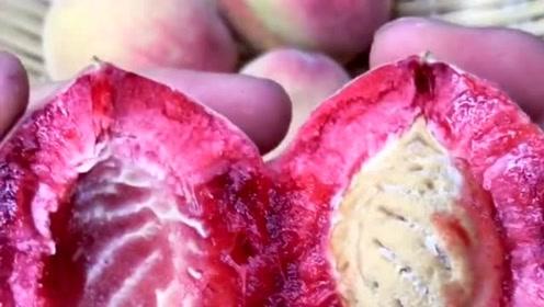 这样的桃子是什么品种,看起来非常的好吃,网友:感觉快成精了!