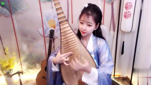 流行歌曲欣赏《中国功夫》琵琶曲,女孩弹奏真好听