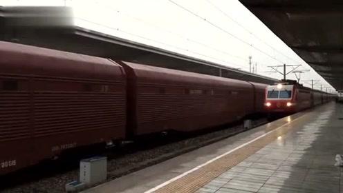 繁忙的京九铁路麻城站 K620次进站 1204次出站