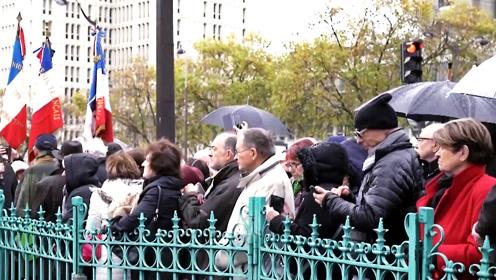 """""""使用暴力不可容忍""""巴黎民众集会反对暴力游行 与香港感同身受"""