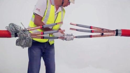 比手臂还粗的电缆,是如何连接的?接口像大腿一样粗!