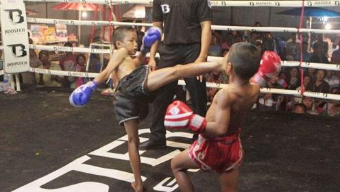 泰拳小孩的KO,竟一点不输大人!