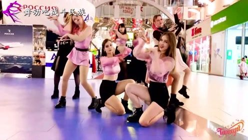 """第一次在俄罗斯商场里看到这样的表演,战斗民族姑娘果然""""热情"""""""