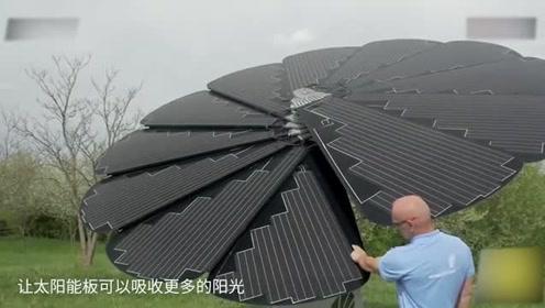 """老外打造发电""""向日葵"""",每年发电6200度,再也不用交电费!"""