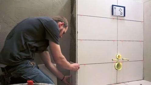 德国工人贴瓷砖,看完才知道什么叫工匠精神,太专业了